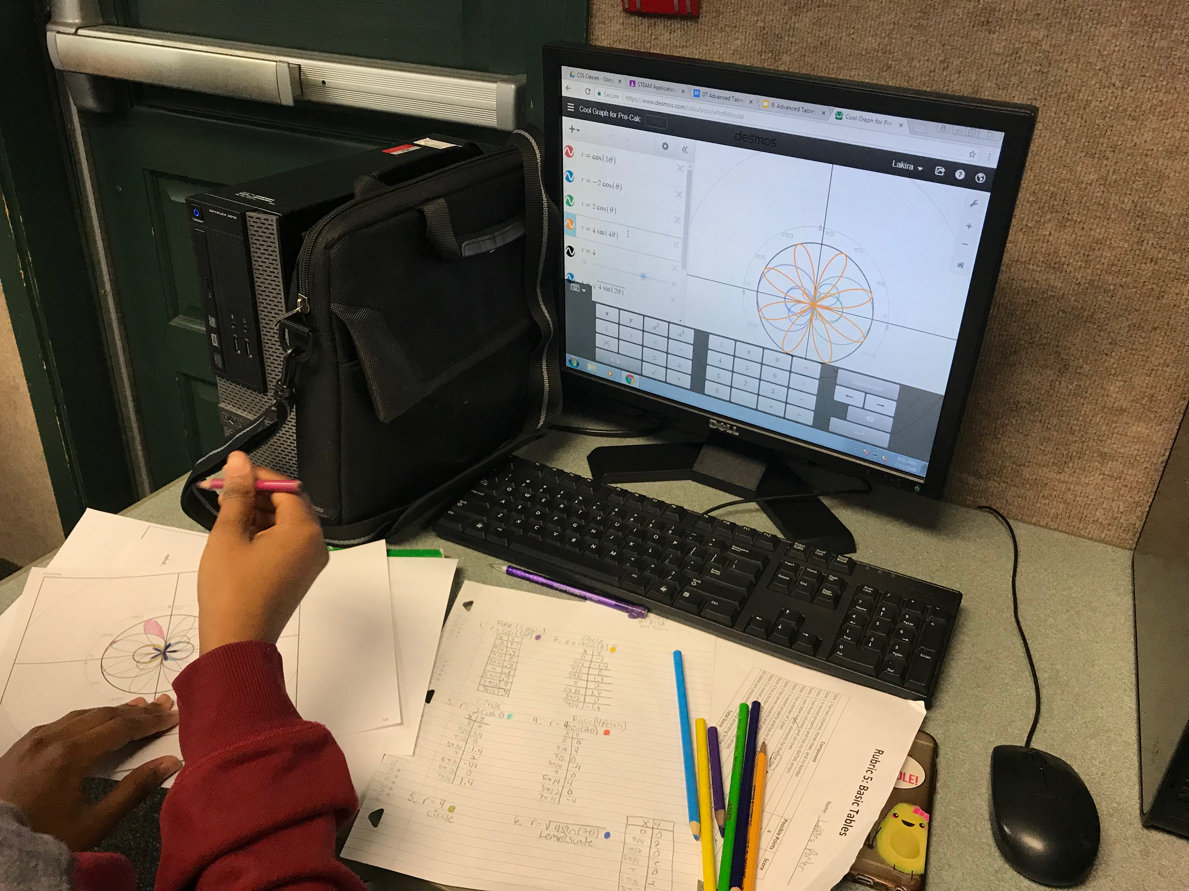 Polar Graphing with Desmos.com